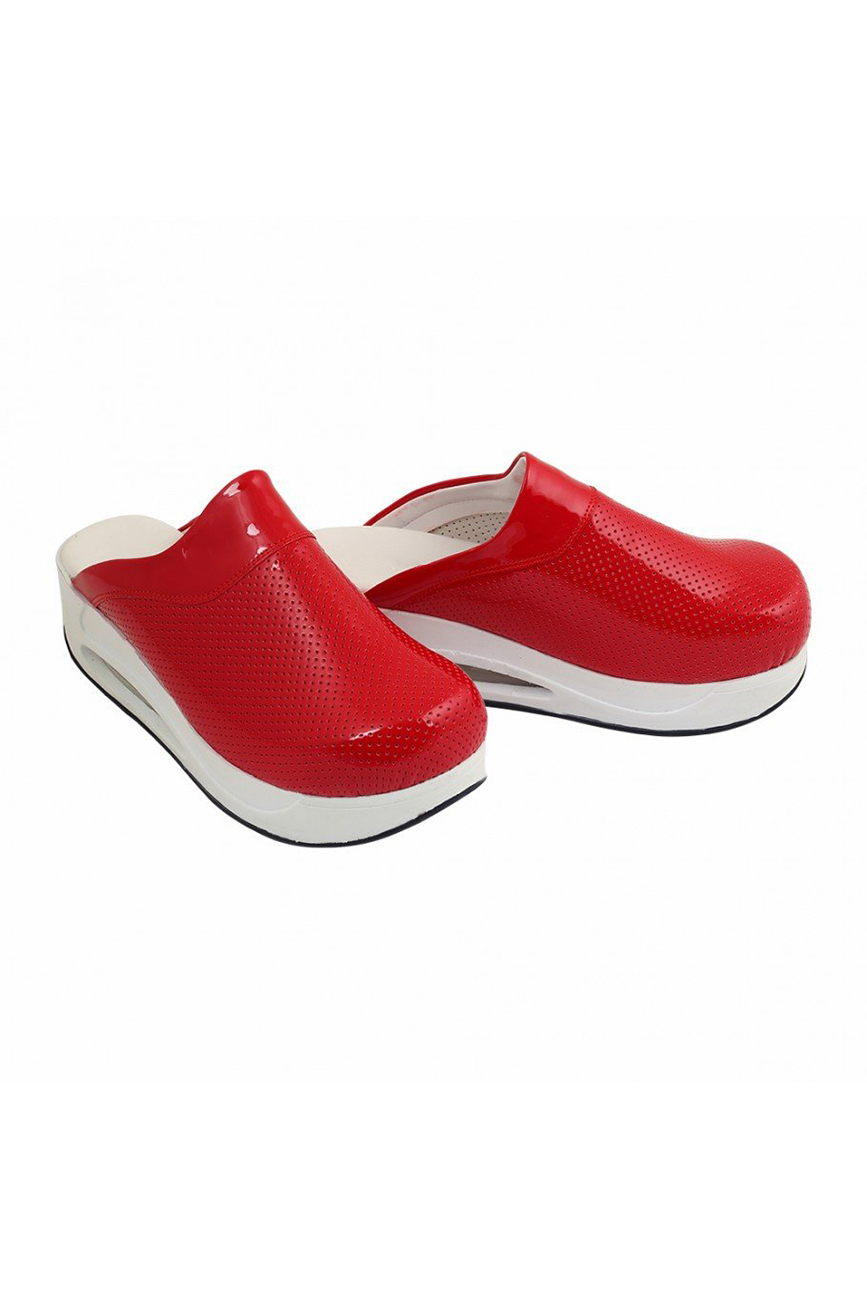 Air Max Red Woman Clog Work Shoes