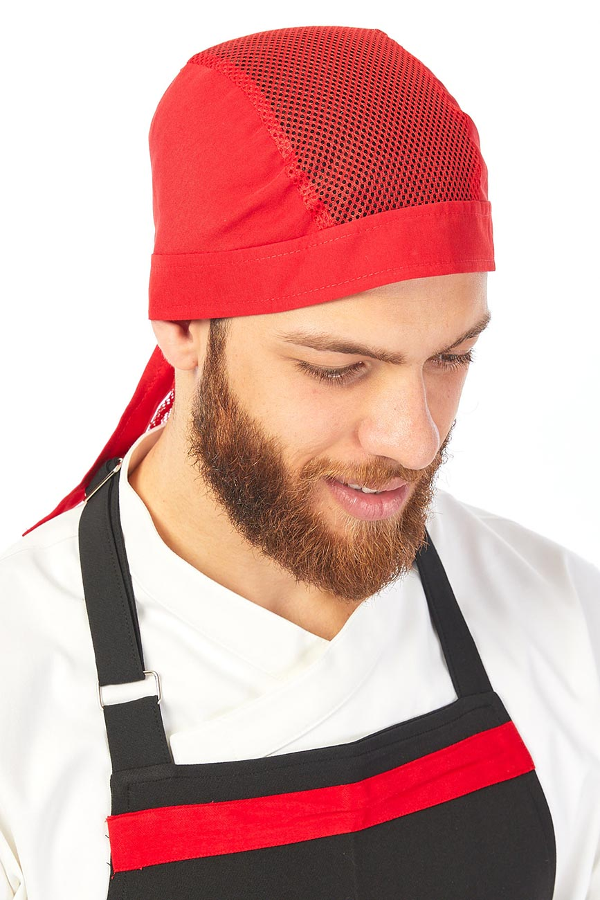 Red Unisex Chef's Back Tie Hat/Cooking Baker Hat