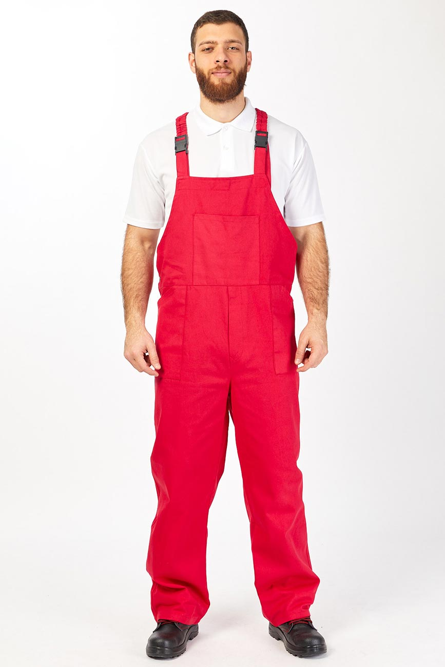 Red Height Adjustable Work Coverall