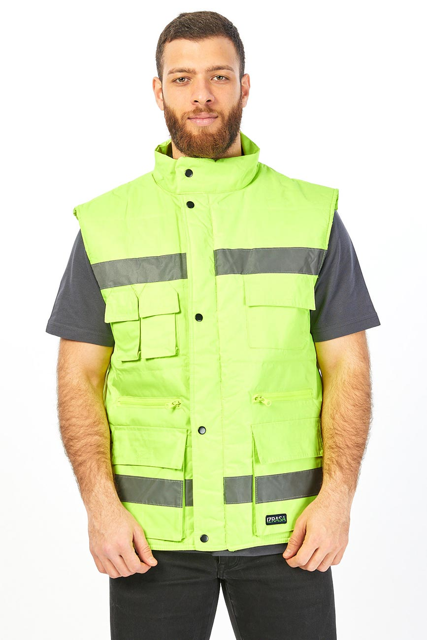 Reflector Colour and Stripes Yellow Vest-2