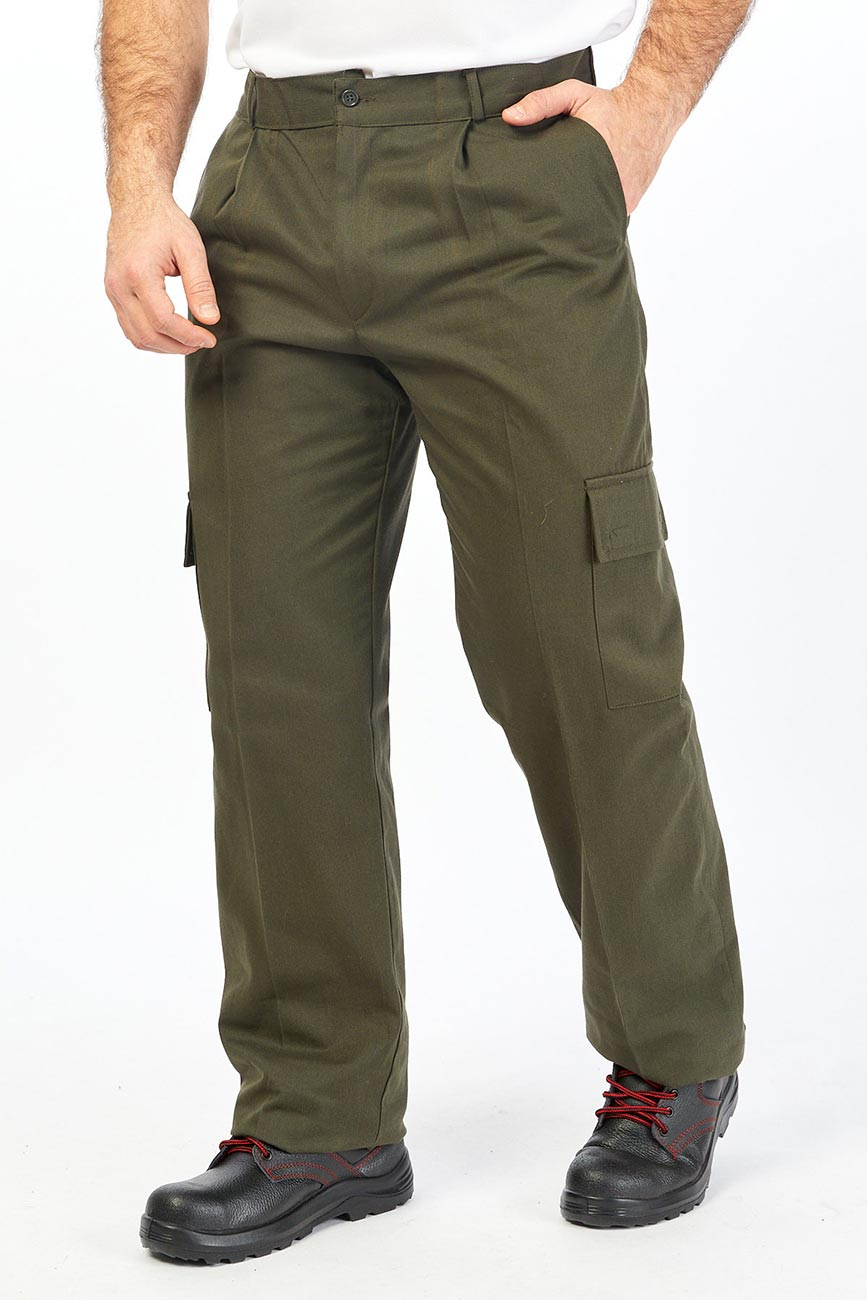 Army Green Pants With Cargo Flap Pockets