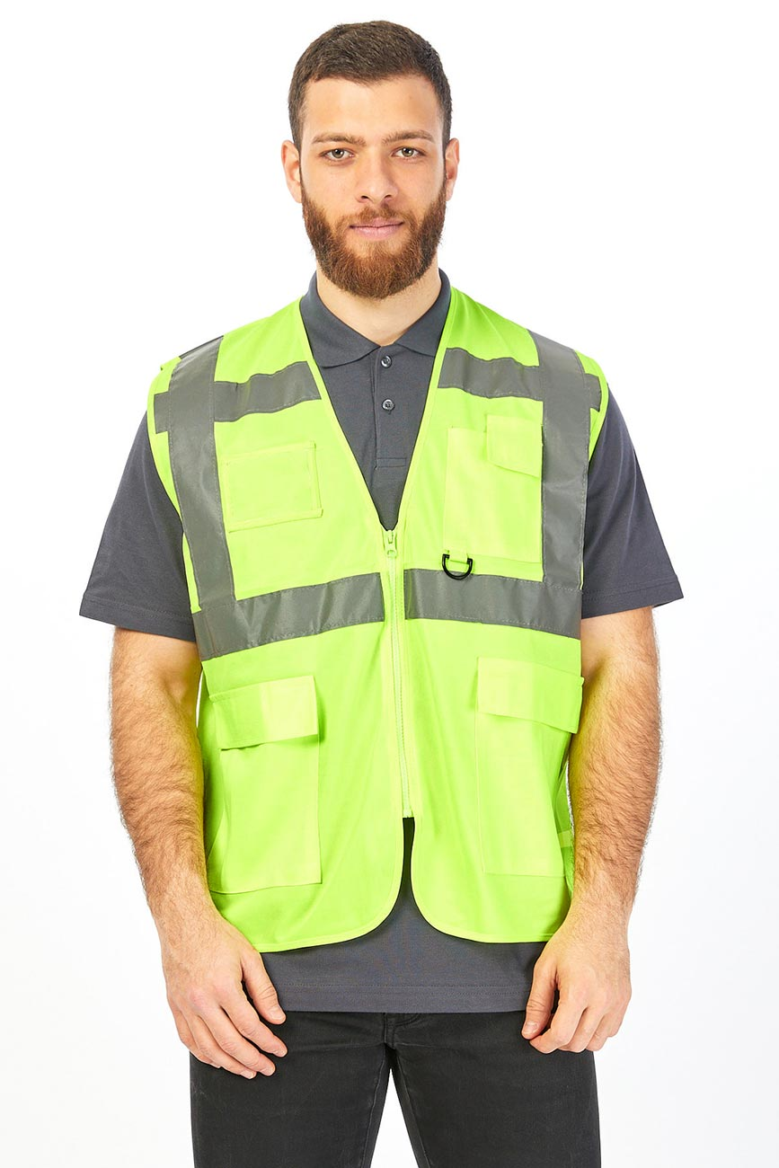 Reflector Colour and Stripes Yellow Vest
