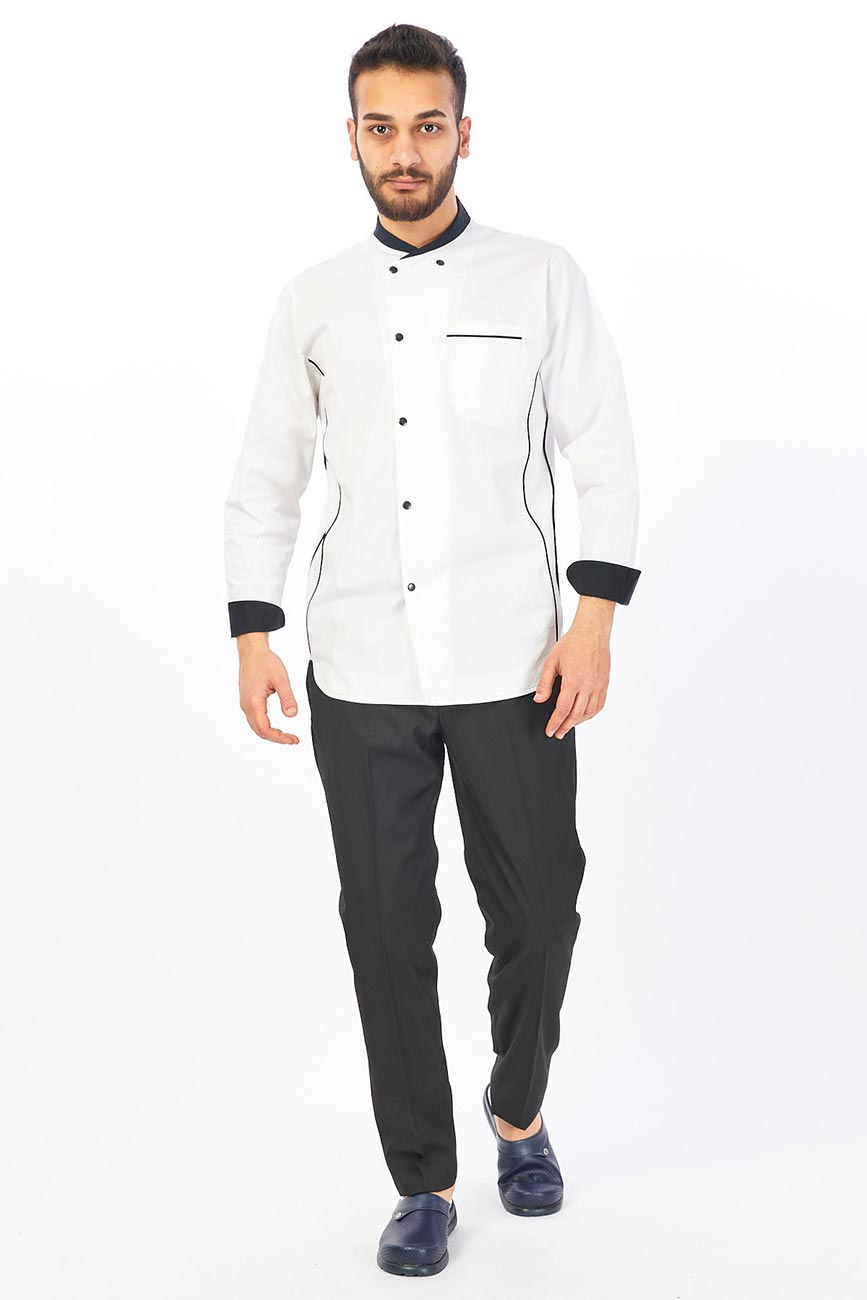 Unisex Classic Long Sleeve Button Chef Coat